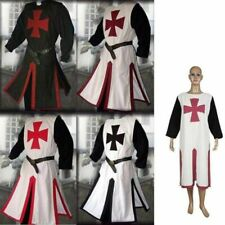 Medieval Templar  Knight Crusader Surcoat Long Sleeve Outfit Cosplay Costume