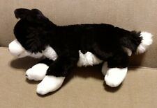 Toys R Us Animal Alley Border Collie Black & White Puppy Dog Plush
