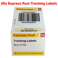 50x Australia Express Post Tracking Labels Stickers Auspost - Track Parcel