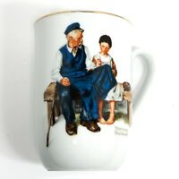 VINTAGE Norman Rockwell Museum Coffee Tea Cup The Lighthouse Keepers Daughter
