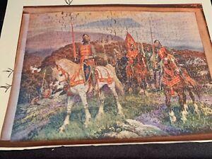 Antique C1930 Wooden Jigsaw Puzzle 375pcs King Arthur on Dartmoor