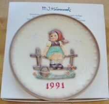 Hummel 1991 Annual Plate Just Resting w/Box - 21st