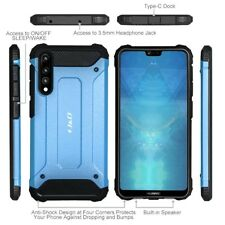 Huawei P20 Pro Case Rugged Hybrid TPU Cover Shockproof Bumper Protective Blue