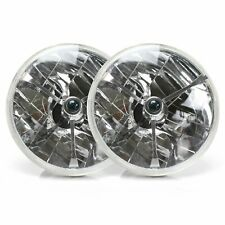 H6024 Pair 7 Head Light Housing Round Glass Conversion Lamp - Set muscle cars