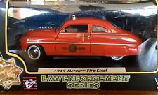1949 Mercury Fire Chief Police Red Diecast Car Motormax 1:24 Law Enforcement!