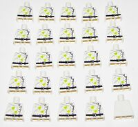 LEGO LOT OF 25 NEW WHITE MAD SCIENTIST MINIFIGURE PARTS NO ARMS