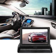 "4.3"" LCD Auto Monitor für PKW KFZ Rückfahrkamera klappbar TFT Display Bildschirm"