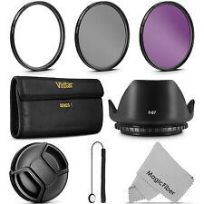 67MM Filter Kit (UV CPL FLD) with Pouch & Accessories for Canon Nikon Sigma Lens