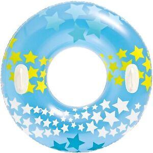 Intex Schwimmring Schwimmreifen Schwimmen Stargaze Wasser 2 Griffe 91cm Blau