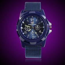 Hot Round Dial Nylon Strap Band Men Boy Military Army Quartz Wrist Watch Gift