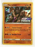 Terrakion PRERELEASE HOLO RARE SM205 Pokemon Unified Minds NM Card TCG Foil