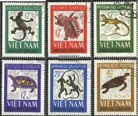 Vietnam 432-437 (kompl.Ausg.) gestempelt 1966 Reptilien