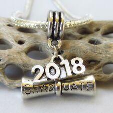 Graduation Diploma 2018 European Pendant Charm For Large Hole Charm Bracelets