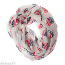 Claire's Women's Stars and Stripes Heart Print Infinity Scarf