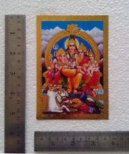 "Lord Shiva Parvati Ganesha Karthik  POSTER (Golden Foiled Paper 3.5""x5"")"