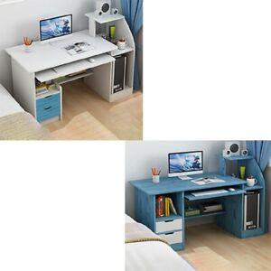 Computer Table Writing Desk  Home Office PC Laptop Workstation Storage White New