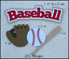 Die Cut Baseball Title Glove Bat Ball Scrapbook Embellishment Paper Piecing CKS