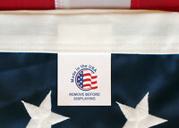 Embroidered 2-ft-by-3-ft Nylon American Flags 2x3 *100% MADE IN USA* FOR CHARITY