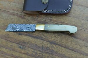 damascus custom made beautiful folding tando knife From The Eagle CollectionA78B