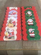 2 Cardboard Christmas Card Holders
