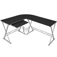 Schreibtisch Eckschreibtisch Winkelschreibtisch Computertisch Bürotisch schwarz