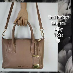 Ted Baker Lauren  Leather Tote Bag, Mink two way hand /shoulder strap. VGC