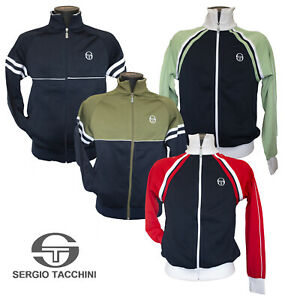 Sergio Tacchini Mens Retro Track Top Casual Tracksuit Navy Jacket Size Small, XS