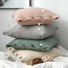Pillowcase Soft Knited Throw Home Decor Cushion Cover Sofa Office Pillow Cover