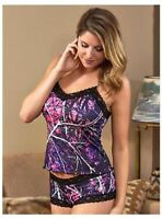 CLOSE OUT! Wilderness Dreams Muddy Girl - Black Lace Camisole, Boy Short or Set
