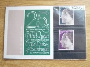 GB Presentation Pack 45 25th Wedding Anniversary of Queen Elizabeth and Duke of