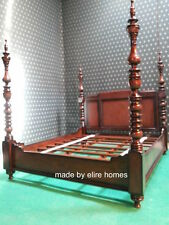 Super King size 6' mahogany Dutch Style  Four poster designer canopy Bed