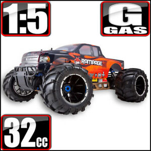 Redcat Racing Rampage MT V3 1/5 Scale Gas 4WD RC Monster Truck Orange/Flame NEW