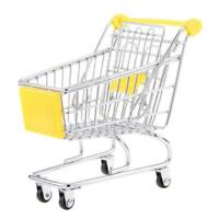 Kids Pretend Role Play Mini Metal Shopping Trolley Handcart & Supermarket B U2F5