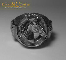 Solid Sterling STAMPED 925 Silver Highly Polished  Horse Shoe Ring 51 grams