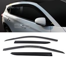 30_Smoke Window Vent Visor Sun Rain Deflector Guard For HYUNDAI 2016-2018 Tucson