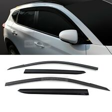 30_Smoke Window Vent Visor Sun Rain Deflector Guard For HYUNDAI 2016-2017 Tucson
