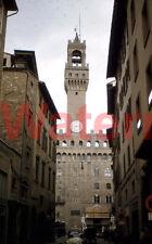 Palazzo Vecchio Florence Italy Street Scene 1954 Kodak Red Border 35mm Slide 2