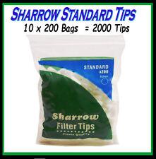 10 BAGS SHARROW STANDARD CIGARETTE  FILTER TIPS (2000 TIPS)   CHEAPEST ON EBAY