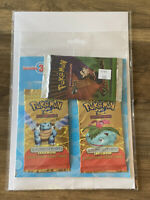 Pokemon Triple Booster Pack Combo. 2X Expedition Base Set + Gym Challenge. WOTC