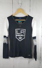 NWT $45  NHL Los Angeles Kings Reebok Face-Off Women's Long Sleeve Henley Tee S