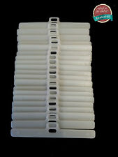 """Slat Top Hangers For Vertical Blind 89mm/3.5"""" Double Slot Type Set of 20 Spares"""