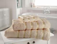 Egyptian Cotton Towels Set Bath Sheet Bale Hand Large 100% Satin Stripe 600 GSM