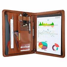 Leathario Portfolio A4 File Folder Padfolio Writing Pad Business Presentation