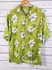 Tehama Mens Hawaiian Style Short Sleeve Shirt 100% Silk Size M Medium