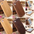 Genuine Real Natural Wood Bamboo Hard Back Case Cover For Apple iPhone 5 5s 6 6s