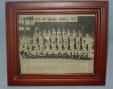 Vintage 1957 Pittsburgh Pirates TEAM PHOTO, Old MLB, Bucs,Forbes Field, ORIGINAL