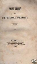 IRPINIA_ARIANO_PARZANESE_NUOVE POESIE_MOLTEDO_CANZONI POPOLARI_CANTASTORIE_'800