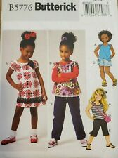 Butterick pattern B5776 Girls' Top, Dress, Shorts, Pants & Bag  sz 2,3,4,5 uncut
