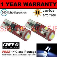 2x W5W T10 501 Canbus Nessun Errore Bianco 5 SMD LAMPADINE LED PER TARGA
