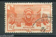 AOF 1947, timbre 33, FONTAINE D ART INDIGENE A BAMAKO, oblitéré